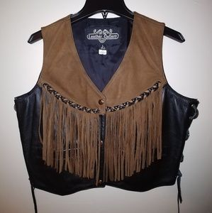 Leather Gallery Women's Vest With Fringe